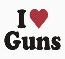 I Heart Love Guns Kids Clothes