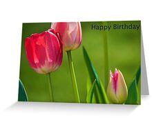 Happy Birthday Flower card Greeting Card