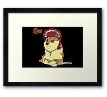 Diamond Doge (sans Comic Sans) Framed Print