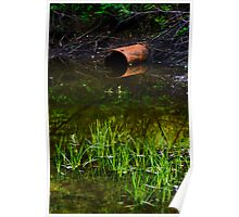 Olde Rusty Drainage Pipe Poster