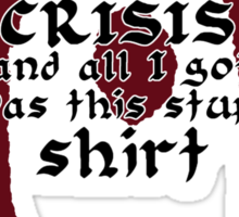 Oblivion Crisis T-shirt Sticker
