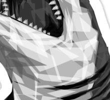Geometric Shark Sticker