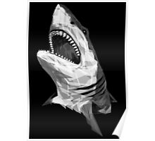 Geometric Shark Poster