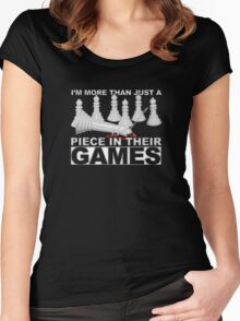 More Than a Piece in Their Games Women's Fitted Scoop T-Shirt
