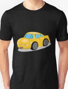 Yellow Sports Car Cartoon Unisex T-Shirt