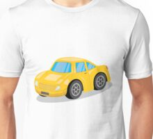 Yellow Sports Car Cartoon Unisex T-Shirt