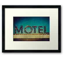 Vintage Motel Sign Framed Print