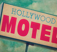 Hollywood Motel Sign by Honey Malek
