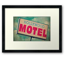 Hollywood Motel Sign Framed Print