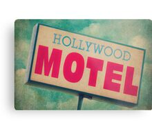 Hollywood Motel Sign Metal Print