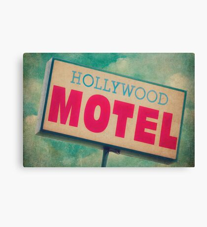 Hollywood Motel Sign Canvas Print