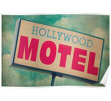 Hollywood Motel Sign Poster