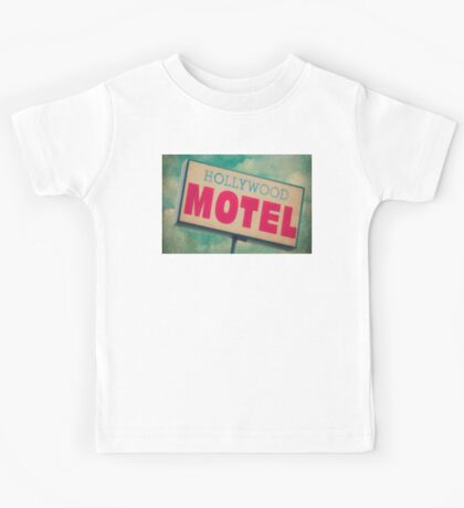 Hollywood Motel Sign Kids Tee