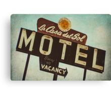 La Casa Del Sol Motel Sign Canvas Print