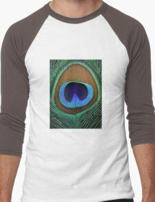 Beautiful peacock feather Men's Baseball ¾ T-Shirt