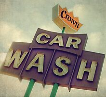 Crown Car Wash Neon  by Honey Malek