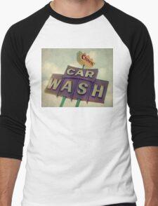 Crown Car Wash Neon  Men's Baseball ¾ T-Shirt