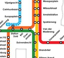 underground of amsterdam Sticker