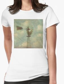 Vintage Windmill Womens Fitted T-Shirt