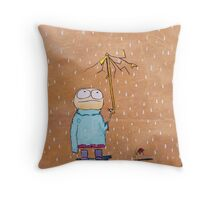Eddy is having a bad day Throw Pillow