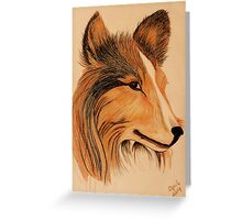 Collie Mix Greeting Card