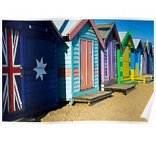 Beach Houses Watercolor Poster