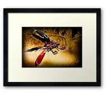 Bug on a Windscreen Framed Print