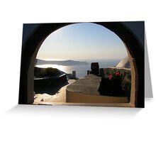 Window in Fira, Santorini Greeting Card