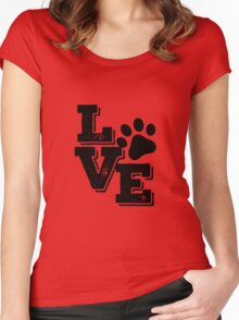 Love dog Women's Fitted Scoop T-Shirt