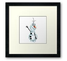 """Olaf the Snowman from """"Frozen"""" Framed Print"""