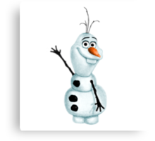 """Olaf the Snowman from """"Frozen"""" Canvas Print"""