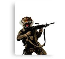 Tiger Soldier Canvas Print