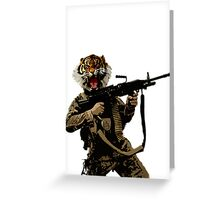 Tiger Soldier Greeting Card