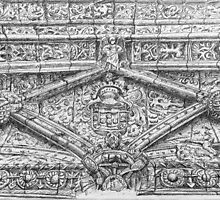 drawing. ballpoint. top of the south entrance. jerónimos monastery by terezadelpilar~ art & architecture