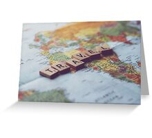 Travel - Scrabble Photograph Greeting Card