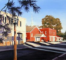 Main Street Scene Ste Genevieve by MIKE DEVANEY