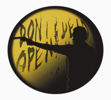 Rick Grimes Silhouette The Walking Dead - Yellow by uglybyproxy
