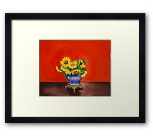 Donna's Sunflowers Framed Print
