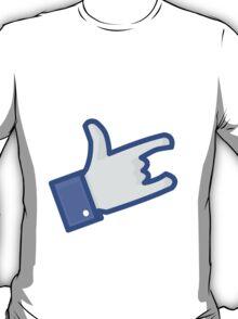 Facebook Like Devil Horns T-Shirt