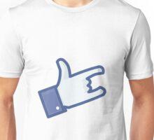 Facebook Like Devil Horns Unisex T-Shirt