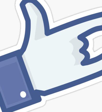 Facebook Like Devil Horns Sticker