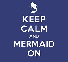 Keep Calm and Mermaid On (dark shirt) Womens Fitted T-Shirt