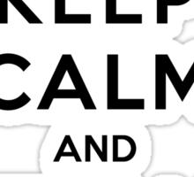 Keep Calm and Mermaid On (light shirt) Sticker