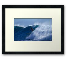 Long Boarder At Snapper Rocks #2 Framed Print