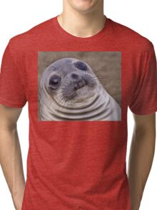 Fat seal sticker Tri-blend T-Shirt