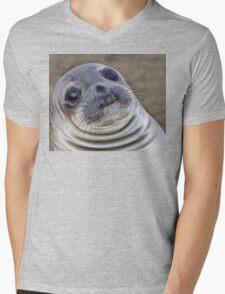 Fat seal sticker Mens V-Neck T-Shirt
