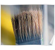 ©HS Paint Brush In Yellow IIA Poster