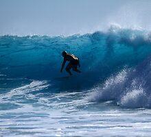 In The Blue At Snapper Rocks by Noel Elliot