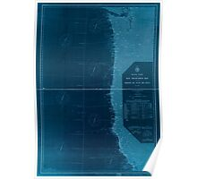 Civil War Maps 1232 Pacific Coast from San Francisco Bay to the Strait of Juan de Fuca 02 Inverted Poster