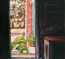 View from Lulu's Summer Porch - The Door by MIKE DEVANEY